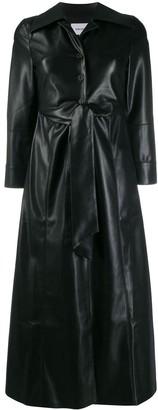 Nanushka Tarot vegan leather tie-front dress