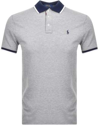 Ralph Lauren Custon Fit Polo T Shirt Grey
