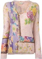 Etro floral print jumper - women - Linen/Flax/Polyamide - 40