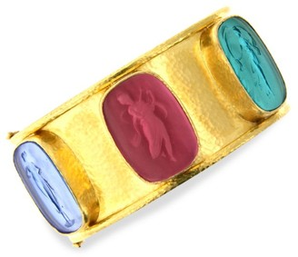 Elizabeth Locke Venetian Glass Intaglio Pastel 'Muse' Bangle