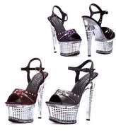 """Ellie Shoes Zane 6"""" Textured Platform (;5)"""