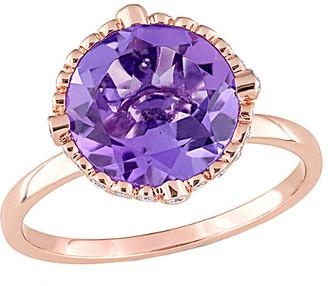 Rina Limor Fine Jewelry 14K Rose Gold 3.23 Ct. Tw. Diamond & Amethyst Ring