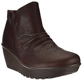 Skechers Ruched Leather Wedge Boots - Parallel Universe