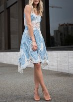 Jonathan Simkhai Crochet Embroidered V-neck Dress Chambray