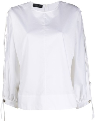 Eudon Choi Side Ties Long-Sleeve Top