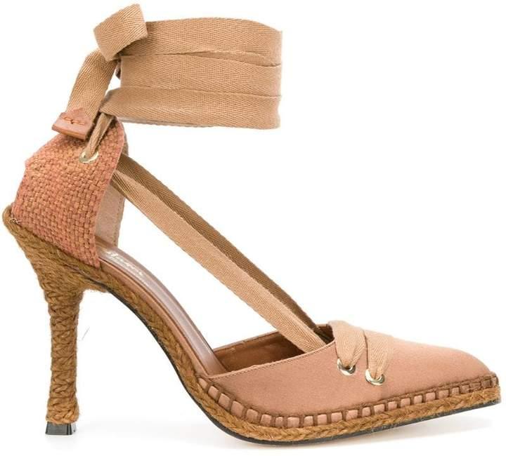 Castaner x Manolo Blahnik mid-heel espadrille pumps