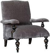 Uttermost Eavan Chenille Armchair in Grey