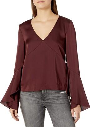 Finders Keepers findersKEEPERS Women's Seasons Bell Sleeve Ruffle Top