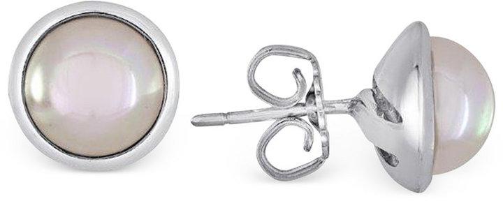 Majorica Sterling Silver Organic Man-Made Pearl Stud Earrings