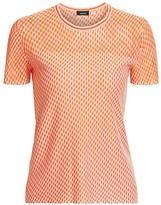 Akris Diagonal Tweed Cashmere & Silk Knit Top