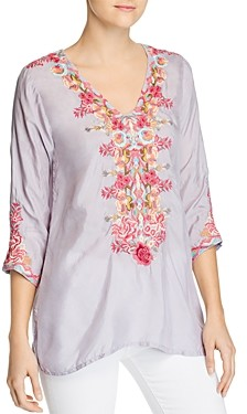 Johnny Was Briony Embroidered Blouse