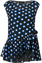 Moschino sleeveless polka dot blouse - women - Silk/Cotton - 46