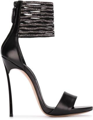 Casadei Crystal Ankle Strap Sandals