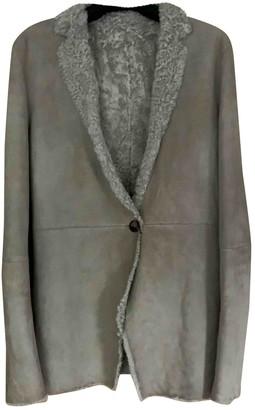 Calvin Klein Beige Shearling Jacket for Women