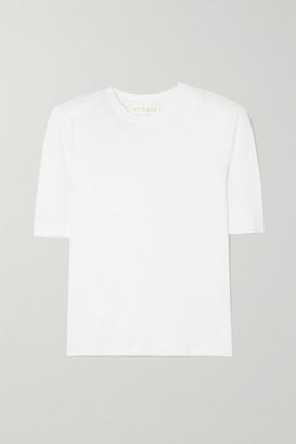 REMAIN Birger Christensen Xenia Organic Cotton-jersey T-shirt - White