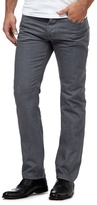 Jeff Banks Grey Raw Button Fly Straight Leg Jeans