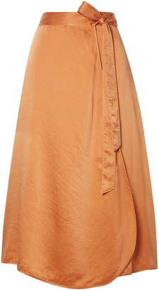 Forte Forte Hammered Washed Silk-satin Midi Wrap Skirt