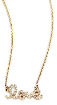 Sydney Evan Small Love Diamond& 14K Yellow Gold Pendant Necklace