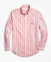 Brooks Brothers Non-Iron Regent Fit Wide Stripe Sport Shirt