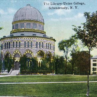 "LIBRARY Lantern Press ""Exterior View of Union College Print, 12""x18"""