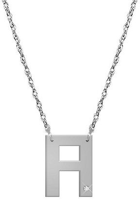 Jane Basch 14K Diamond Initial Necklace (A-Z)