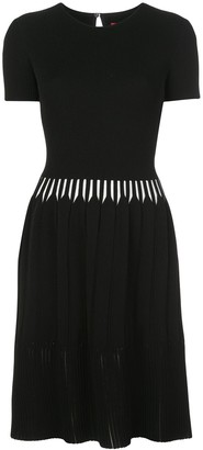 Carolina Herrera Contrast Details Knitted Dress