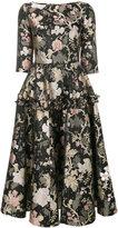 Piccione Piccione Piccione.Piccione floral foil print dress