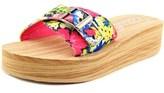 Rocket Dog Kaplan Women Open Toe Canvas Multi Color Wedge Sandal.