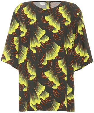 Dries Van Noten Printed crepe top
