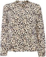 Marella GOOD longsleeve Leopard print silk shirt
