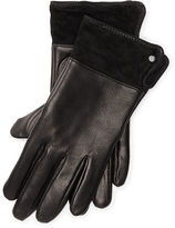 Ralph Lauren Suede-Cuff Leather Gloves