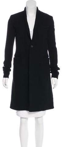 Rick Owens Wool Knee-Length Coat