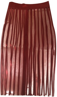 La Perla Red Silk Skirts