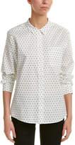 NYDJ Printed Linen-Blend Blouse