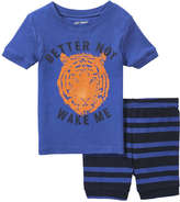 Joe Fresh Toddler Boys' Graphic Sleep Set, Bright Blue (Size 4)