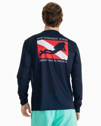 Southern Tide Deep Blue Space Performance Long Sleeve T-Shirt