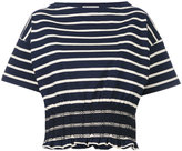 Moncler cinched t-shirt - women - Cotton/Polyester - XS