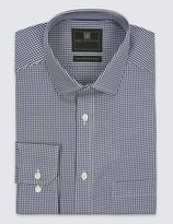 Marks and Spencer Big & Tall Gingham Non-Iron Shirt
