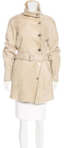 Burberry Shearling Belted Coat