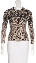 Tracy Reese Silk-Blend Patterned Cardigan