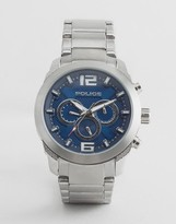 Police Quartz Watch with Blue Dial Chronograph Display