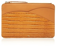 Chloé Walden Croc-Embossed iPad Pouch