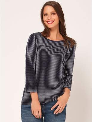 M&Co Stripe scoop back top