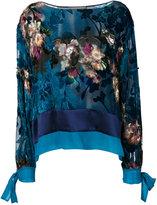 Alberta Ferretti floral print blouse - women - Silk/Viscose - 42