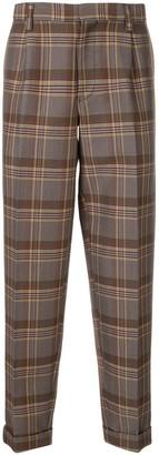 Kolor Plaid Pattern Trousers