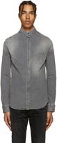 Pierre Balmain Grey Denim Shirt