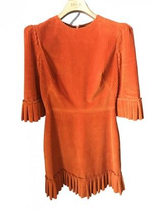 The Vampire's Wife Orange Cotton Dress for Women
