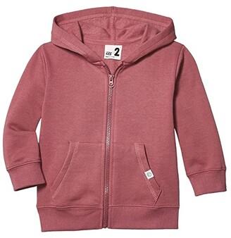Cotton On Sunny Zip Through Hoodie (Toddler/Little Kids/Big Kids) (Vintage Berry) Boy's Clothing