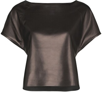 Skiim Wai boat-neck top