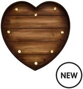 Graham & Brown Lit Wood Effect Heart